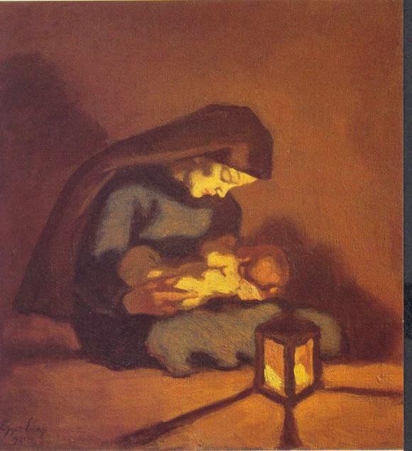 Madonna mit Kind (Albin Egger-Lienz, 1921)